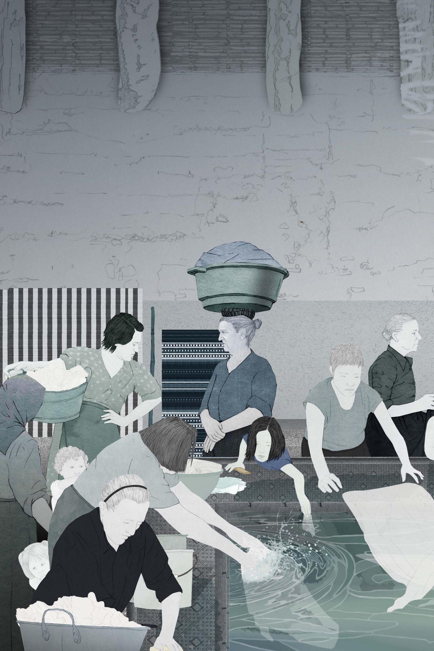 Il·lustració d'un safareig.